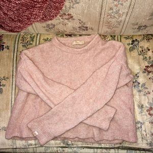 Pink Obey Cropped Sweater